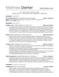 rock your internship resume  samples    templatesreal software engineering internship resume
