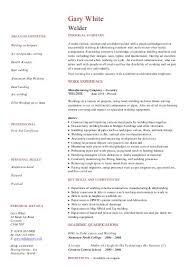 copywriter CV template sample - Dayjob welder CV template example - Dayjob