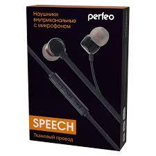 <b>Гарнитура Perfeo Speech</b>, вставная,черная (PF_A4631 ...