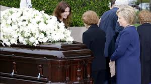 Image result for hillary nancy reagan funeral