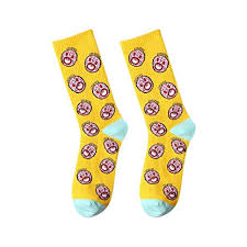 MZWZSCL Ladies' Cotton Cartoon Central Tube Socks <b>Candy Color</b> ...