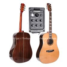 "<b>Finlay Full Solid Guitar</b>,<b>41</b>"" Electric Guitar With Pickup,Solid Cedar ..."