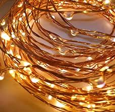 Buy Quace Copper <b>String Led</b> Light <b>10M</b> 100 <b>LED</b> Battery Operated ...