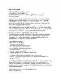 astounding project management job description brefash resume for project coordinator volumetrics co project management job description template project management job description construction