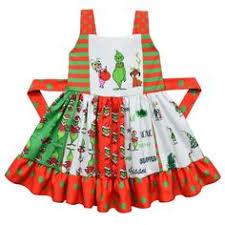 <b>2019 new design</b> baby girls dress Grinch print Christmas gallus ...