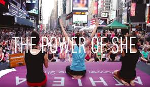 athleta the power of she alone we are strong united we thrive together we create the power of she