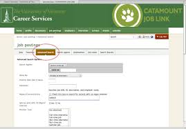 catamount job link search tips advanced search 1