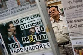 Resultado de imagen de fotos de las manifestaciones contra el rescate bancario español