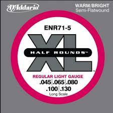 <b>D'Addario ENR71</b>-5 Half Rounds Комплект <b>струн</b> для 5-струнной ...