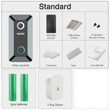 EKEN V6 <b>wifi</b> Doorbell Smart <b>Wireless</b> 720P video camera Cloud ...