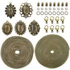 TOAOB 10Sets Antique Bronze Pendant Trays Multi ... - Amazon.com