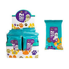 50Pk <b>Pet</b> Hygiene <b>Dog Puppy</b> Cat Cleaning Wet Wipes Ear Paw ...