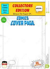 comic book cover template anuvrat info comic book cover stock vector image 40705394