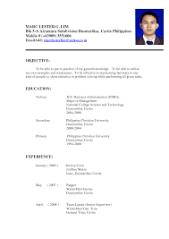 resume  format on how to make a resume  corezume cosample mba application resume