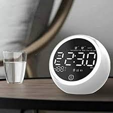 Multifunctional LED <b>HD Mirror Alarm Clock</b> Digital Radio Clock ...
