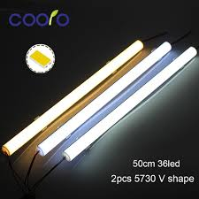 <b>5PCS</b>/<b>Lot</b> 50CM <b>LED</b> Bar <b>light</b> 5730 V Shape Corner aluminum ...