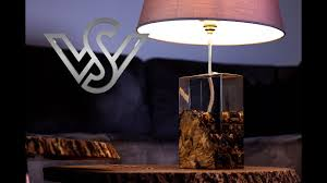 Olive root with clear epoxy <b>resin</b> the <b>modern led</b> desk lamp - YouTube