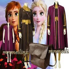 HOT Snow Queen Anna <b>Elsa Princess</b> Cosplay Costume <b>Fancy</b> ...