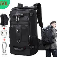 KAKA 50L Waterproof Travel <b>Backpack</b> Men Women <b>Multifunction</b> ...