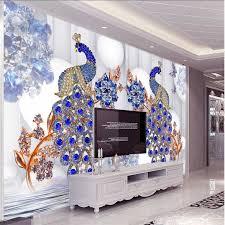 <b>beibehang Custom</b> wallpaper <b>any size</b> 3D diamonds in roses water ...