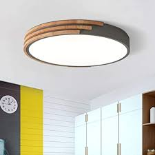 LITFAD Round <b>LED</b> Flush Mount Ceiling Light <b>Nordic</b> Style Iron ...