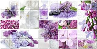 <b>Декор BELLEZA Арома</b> лиловый Сирень 3 25x50 – купить в ...