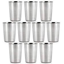 <b>10PCS Stainless Steel</b> Small Drinking <b>Cup</b> Beer Wine <b>Glass</b> Set Of ...