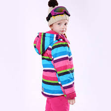 Online Shop Stripe <b>Girl Winter</b> Windproof <b>Ski</b> Jackets and Pants ...