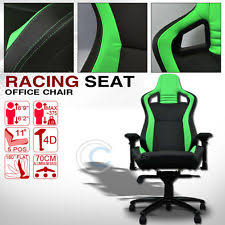 universal blkgreen stitches pvc leather mu racing bucket seat office chair c04 fits bmw z3 bmw z3 office chair jpg