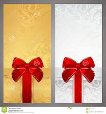 voucher gift certificate coupon boxes bow royalty stock voucher gift certificate coupon boxes bow