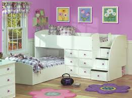 l wonderful purple paint color scheme of teenage bedroom with beautiful florals wall picture frame and white painted wooden loft beds equipped storage bedroom furniture beautiful painting white color