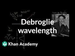 De Broglie wavelength (video)   Khan Academy