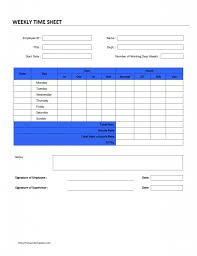 printable weekly time sheet template and form sample for office professional weekly timesheet template sample for your employee a part of under business templates