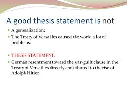 Writing A Good Thesis Statement SlideShare     A good thesis