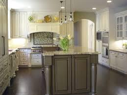 antique white kitchen cabinets dark island