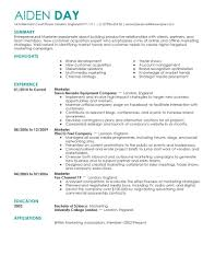 example marketing resume template example marketing resume