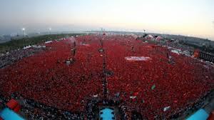 Image result for گردهمایی عظیم مخالفان کودتا در اسلامبول