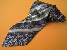 <b>Gian Marco Venturi</b> Tie Silk Woven Stripe Floral Pattern Gray ...