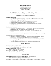 sample general resume template resume sample information sample general resume template for shipping and receiving or warehouse work history