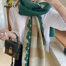 Autumn Green Thin Women's Solid Scarf Lic Female <b>Hijab</b> Scarf ...