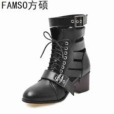 <b>FAMSO</b> 2019 <b>New</b> Fashion <b>Women Boots</b> Black Designer Summer ...