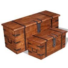 YLSHRF <b>Two Piece Storage Chest</b> Set Solid Wood - Walmart.com ...