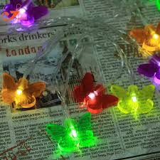 butterfly string lights fairy led christmas light home garden spring lights battery powered party 3v aa battery powered indoor lighting