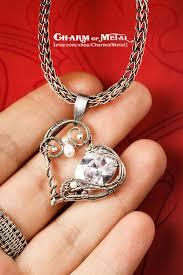 Shape of <b>my heart</b> Silver romantic heart Pendant by CharmofMetal ...