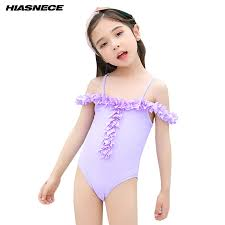<b>Little Girl</b> Cute One Piece Beach Bikini Set Floral Ruffels Swimsuit ...