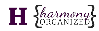 service rates professional home organization harmony organized logo