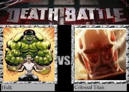 DeviantArt: More Like Hulk vs Colossal Titan by Justinian-RisingStar via Relatably.com