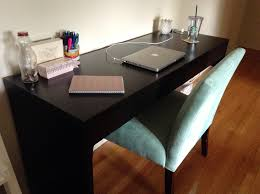charming ikea micke desk in black plus olive chair on wooden floor which matched with white chic ikea micke desk white