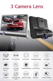 <b>3</b> Camera <b>Lens</b> 1080P HD Car Rearview Mirror Car DVR <b>Dash</b> Cam ...