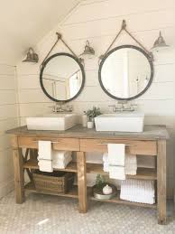 bathroom layout ideas rustic wooden vanity: this farmhouse master bathroom makeover is incredible shiplap subway tile and raw rustic small farmhouse sink bathroomrustic wood vanity